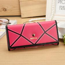 Lady Handbag Women Fashion Purse Credit Card Holder Leather Long Wallet Crown