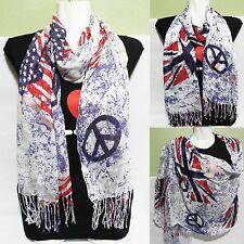 American & british flag print Scarves Fashion Women summer  wrap shawl Stole