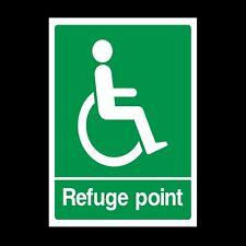 Refuge Point Plastic Sign OR Sticker - A6 A5 A4 (DDA2)