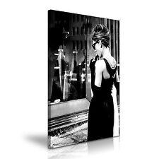Audrey Hepburn Desayuno en Tiffany's Película Lona de Arte-más tamaño