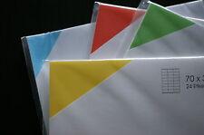 étiquettes adhésives de couleur CHOIX DU FORMAT auto-adhésif Bureau/