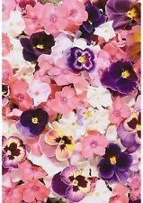 Pensamiento Rosa Flor Floral Papel Pintado A4 Tamaño De Papel De Oblea comestible/Glaseado Hoja