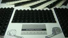 "50 Self Adhesive Rubber Feet Bumpers 0.5"" x 0.25"" Black Bumper Feet + Samples"