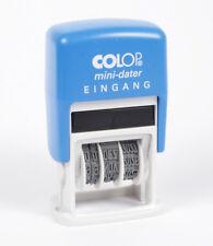 COLOP® Datumstempel Mini-Dater S 160/L - 4 Fertigtexte EINGANG, BEZAHLT… [#1158]