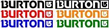 BURTON vinyl sticker decal logo snowboarding