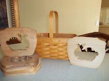 Longaberger Spring Basket wood bunny rabbit divider (basket not included)