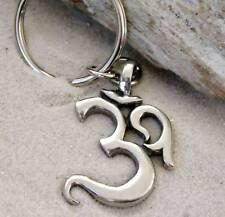 OHM OM AUM BUDDHA BUDDHIST Pewter KEYCHAIN Key Ring