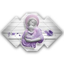 Maternità - Quadro sacro moderno su pannello in legno sagomato | 2 misure