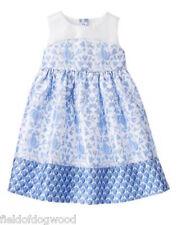 NWT Gymboree Egg Hunt blue floral Dress 12-18 24m, 3T,4T,5T Wedding Holiday