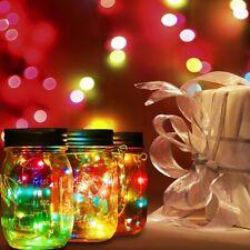 Solar Power 2M 20LEDs Fairy Light Garden Deck Party Mason Jar Lid Night Lights