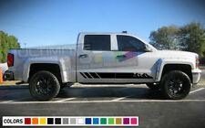Side Stripes For Chevrolet Silverado Z71 Mountains Ops Midnigh Edition Blackout