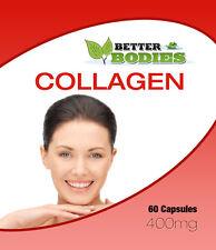 Colágeno (Marina) cápsulas de 400 mg del Reino Unido fabricado