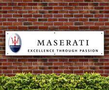 Maserati Excellence Through Passion PVC BANNER garage atelier signe (banpn 00102)