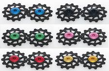 J&L 13T Rear Derailleur Ceramic Bearing Pulley/Jockey* 2 For Shimano,SRAM-8g