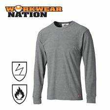 Dickies Modacrylic Long Sleeve T-Shirt, Anti static, Flame Retardant Grey