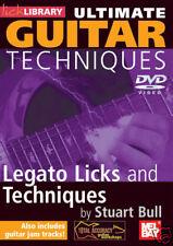 LEGATO LICKS & TECHNIQUES GUITAR *NEW* DVD