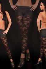 Legging sexy moulant transparent fleurs sexy coquin clubwear libertin