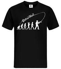 Evolution Angel T-Shirt Fun Shirt Petrie Heil lustig Angelverein Kult Raubfisch