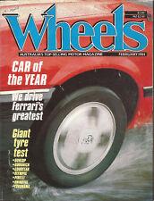 Wheels Feb 84 E30 323i Ferrari Daytona Bluebird
