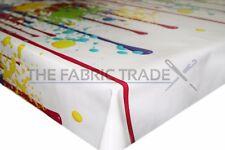 Nursery Vernice Splash Multi PVC Vinile Tovaglia in tela cerata tavolo da pranzo cucina