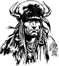 Native Chief Americian Indian Warrior Car Truck Window Vinyl  Decal Sticker