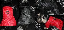 Mantel Jacke Hundejacke S M L XL Hund rot schwarz Hund Hundemantel Warm Winter