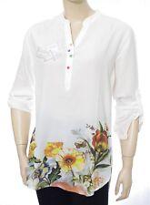 DESIGUAL BLUS BRIGITTE chemise tunique femme blanc cassé 17WWBW78 coloris 1000