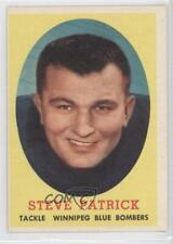 1958 Topps CFL #32 Stan Pavkov Winnipeg Blue Bombers (CFL) Rookie Football Card
