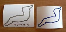 Kit Adesivi IMOLA sticker decal auto moto track pista sbk race car racing r1 cbr