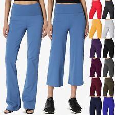 6cc50452d8 TheMogan S~3X Thick Stretch Cotton Foldover Waist Capirs Or Bootleg Yoga  Pants