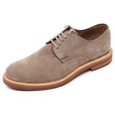 C3804 scarpa classica uomo ALTIERI MILANO scarpe beige scuro shoe man