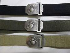 Gürtel Hosengürtel Koppel USMC US Marines versch Farben  bis 130cm Textil neu AB