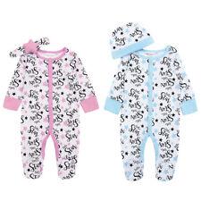 Newborn Baby Girls Boys Babygrow Star Sleepsuit Outfit 2 Piece Set Hat Headband