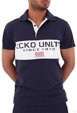 Ecko Polo para Hombre Chicos Dodger Star Camisas de Verano Manga Corta Hip Hop Dinero G Time
