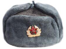 550cb66ffae Russian Soviet Army Hat USSR Badge Real Military Fur Soldiers Ushanka 58 60  62