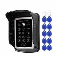 RFID Keypad Keyboard Access Control Touch System Door Lock 10 Keys Cover Alarm