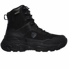 Skechers Men's 77515 Markan Waterproof Black Military Tactical Work Boots
