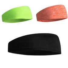 Sports Gym Yoga Mens Sweatband Workout Non-Slip Headband&Knee Strap Brace Band