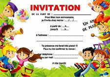 5 - 12 o 14 carte invito anniversario bambino gioco REF 428