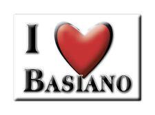 CALAMITA LOMBARDIA ITALIA FRIDGE MAGNET MAGNETE SOUVENIR I LOVE BASIANO (MI)