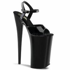 "Pleaser 10"" high heel ankle strap stripper shoes"