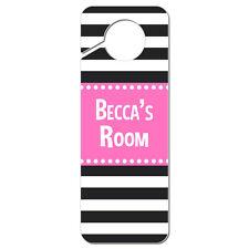 Do Not Disturb Plastic Door Knob Hanger Sign Female Names Ba-Be Pink