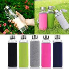 New 550ML Outdoor Portable Insulate Glass Water Juice Tea Milk Bottle Cup Mug