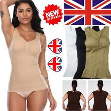 UK Women's Body Shaper Bra Shapewear Tank Tops Slim Camisole Seamless Shirt Cami