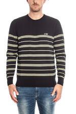 Maglia Maglietta Armani Jeans AJ Sweater Pullover -25% Uomo Nero A6W09KD-9W
