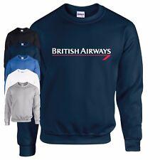 British Airways Aerolínea Sudadera Clásico Más Viejo LOGO Air Crew Airports