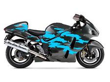 Splash Stripe Custom Motorcycle Graphics Decal Kit , Design 10