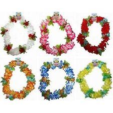 Hawaiian LUJO Lei Guirnalda Disfraz 6 colores vivos NUEVO