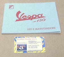1392 LIBRETTO USO E MANUTENZIONE VESPA 150 DEL 1956