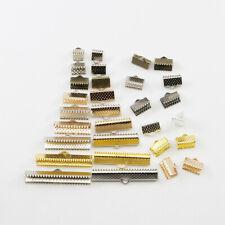 Cord Crimp Ribbon Clip Clamp 6-40mm Connector Bracelet End Cap Tip Necklace